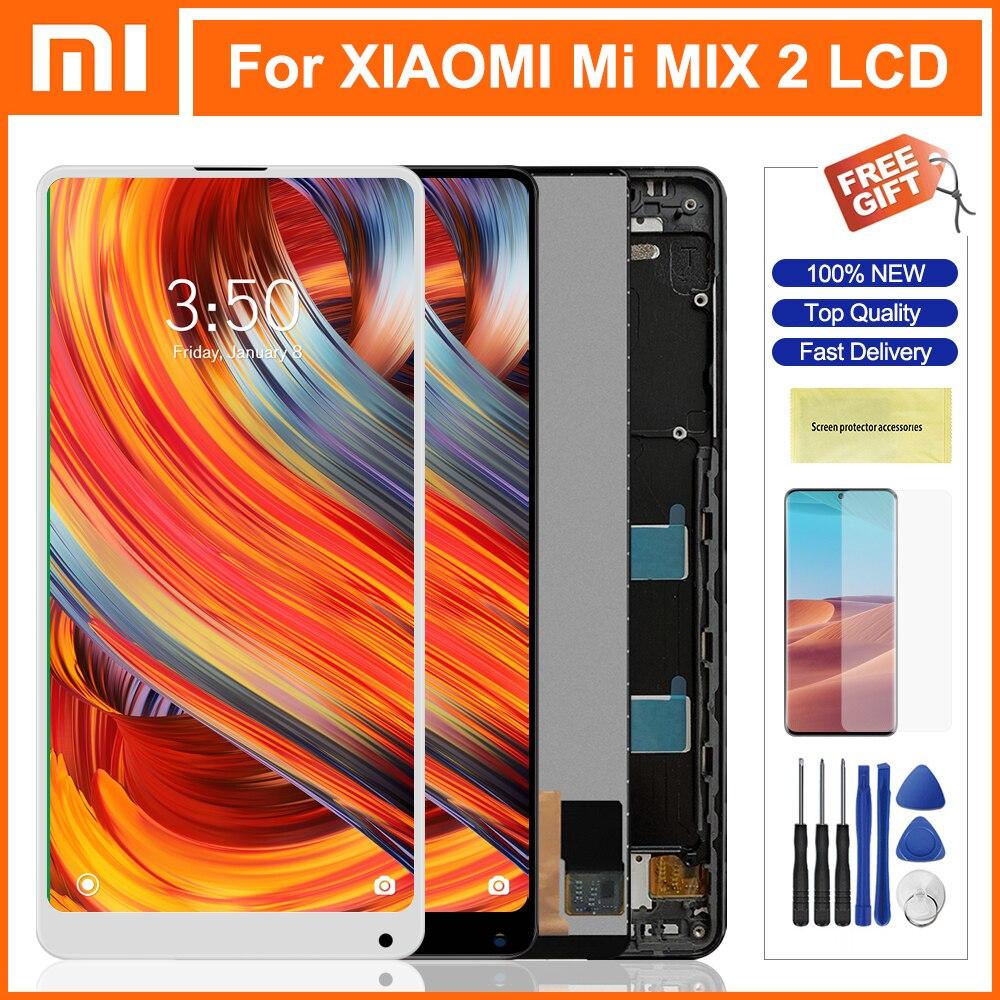 599 mixmixmix2 lcd para xiaomi mi mix 2 lcd com quadro display lcd tela de toque