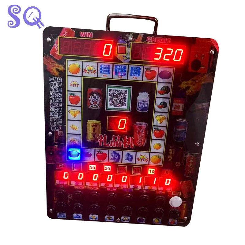 gambling house slot machine fruit forest wall-mounted diy cabinet with adjustable winning rate horn button key Upper points