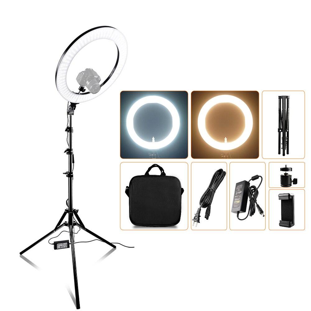 Capsaver 14 بوصة 18 بوصة مصباح مصمم على شكل حلقة LED الفيديو الضوئي ماكياج مصباح مع حامل ثلاثي القوائم TL-160S TL-600S L4500 RL-12A RL-18A