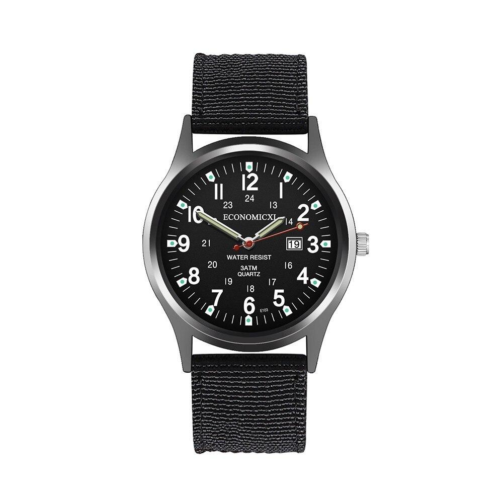 Watch For Men Quartz Watch With Calendar Function Fashion Creative Geometric Nylon Band Reloj Hombre