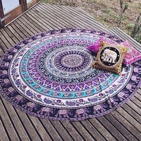 1 pcs mandala tapestry wall tapestry wall hanging blanket indian summer beach wrapped skirt tablecloths tapestries 5 colors m