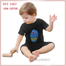 2020 new design Aruba Flag Fingerprint printed Newborn Baby Clothing Summer Rompers Infnat Kids Baby