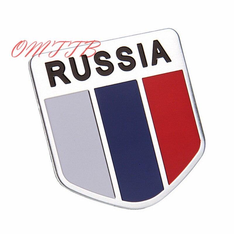 GOOD 3D Aluminum Russia Flag car sticker accessories Emblem  stickers focus chevrolet skoda honda Auto Badge Decal