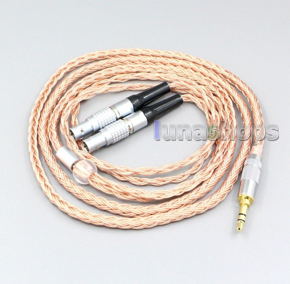 LN006754 2,5mm 3,5mm XLR balanceado 16 Core 99% 7N OCC, Cable de auricular para Focal utopía, fidelidad, auriculares de circuito