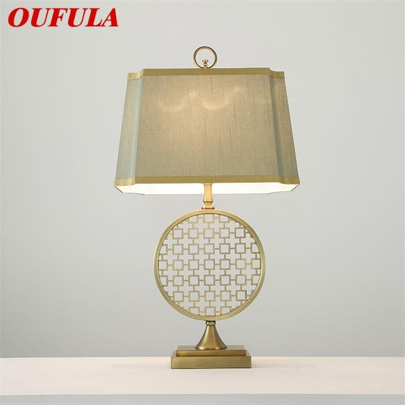 Ouvola-مصباح طاولة بجانب السرير E27 LED بتصميم كلاسيكي ، تصميم حديث ، إضاءة زخرفية للمنزل ، غرفة المعيشة ، المكتب ، غرفة النوم