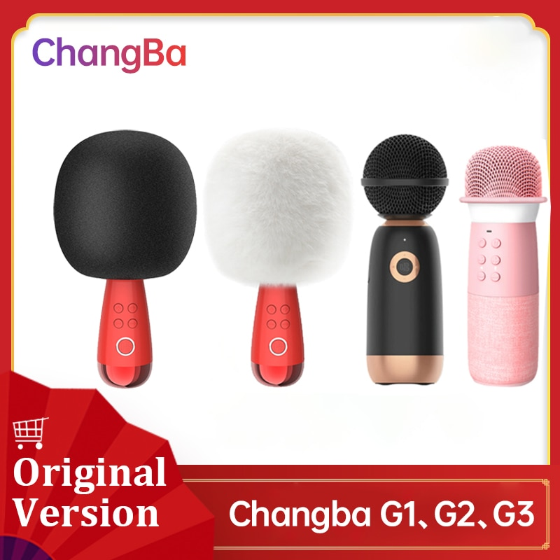 G2 G1 Q3 Big Egg Changba Arena Wireless Microphone Family Karaoke Micro-Phone Sing Speaker Podcast Equipment For Daily Life