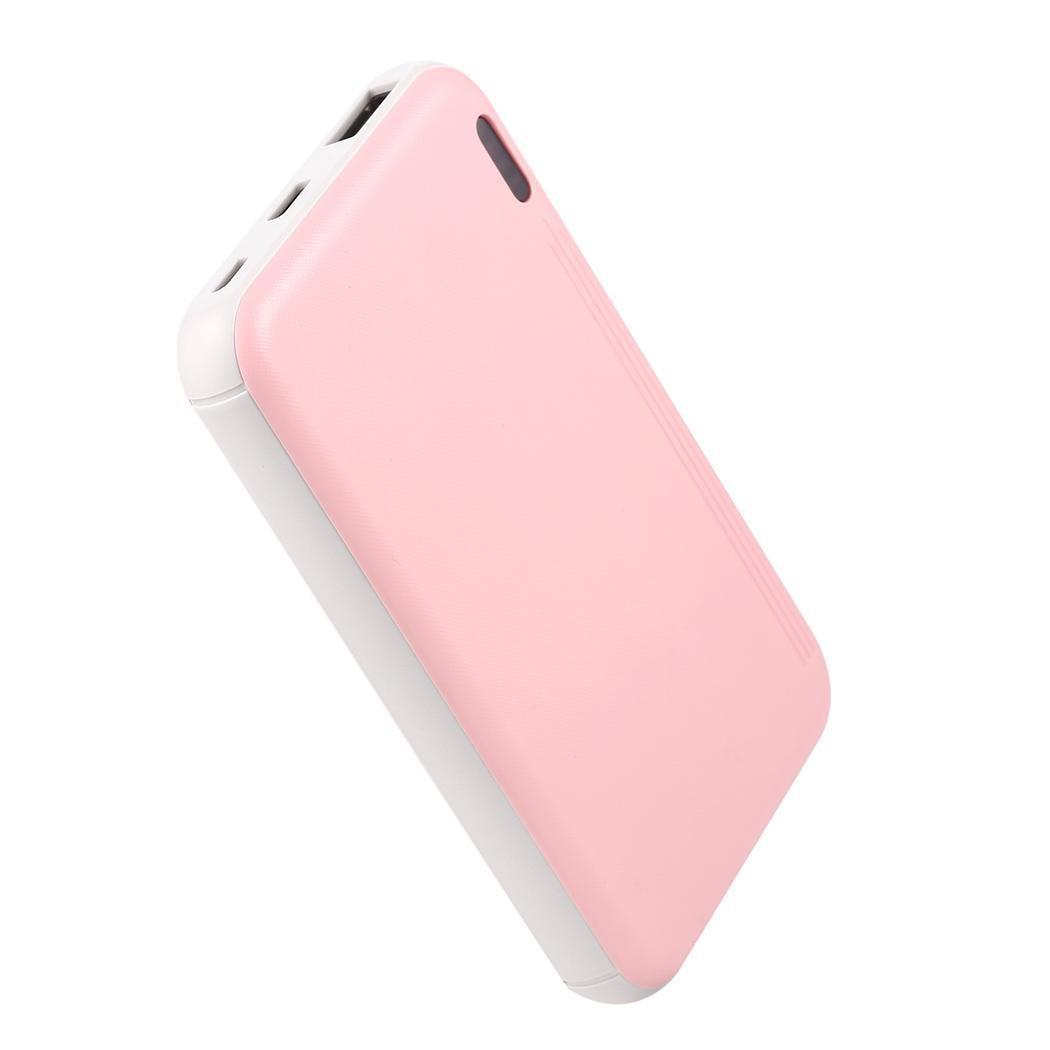 Banco de energía portátil de 10000mAh cargador de batería externa para teléfono móvil banco de energía con USB doble Rosa Poverbank carga rápida para iPhone