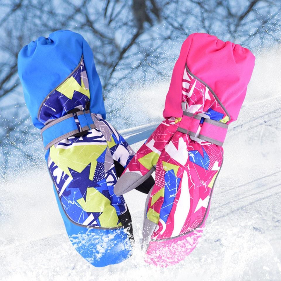 Перчатки теплые водонепроницаемые теплые зимние перчатки лыжные снегоходы Детские Зимние варежки для сноуборда мотоцикла детские спортив...