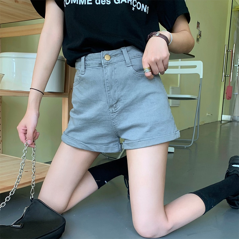 Cheap 2021 spring summer autumn new fashion casual cute sexy women shorts outerwear woman female OL Fy2065  - buy with discount