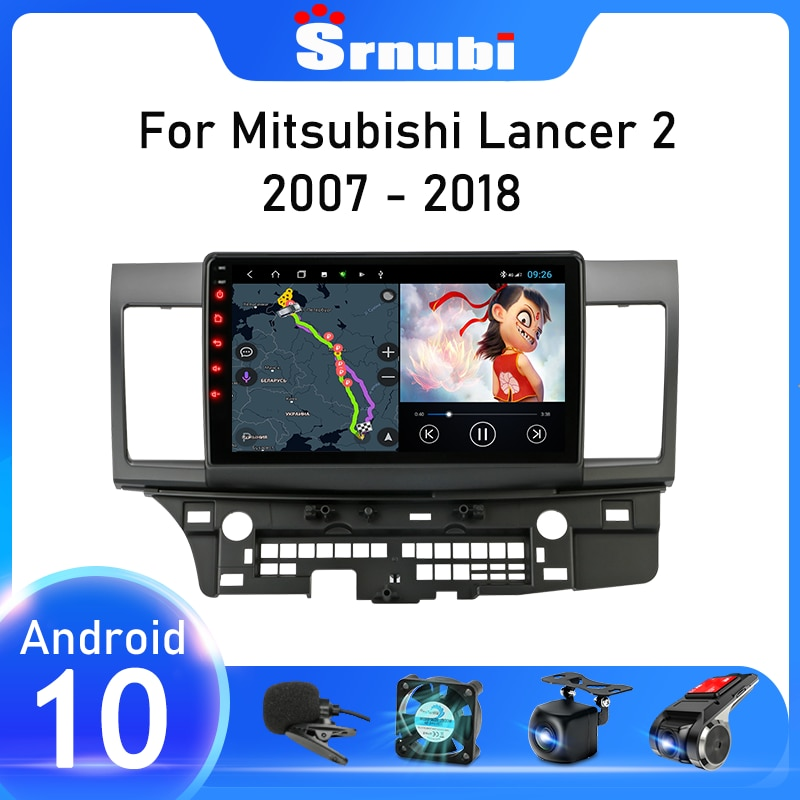 srnubi android 10 2 din car radio multimedia rds dsp ips video player for kia sportage3 2010 2016 gps navigation autoradio dvd Srnubi Android 10 Car Radio For Mitsubishi Lancer 10 CY 2007 - 2017 Multimedia Video Player 2 din WIFI Navigation GPS Stereo DVD