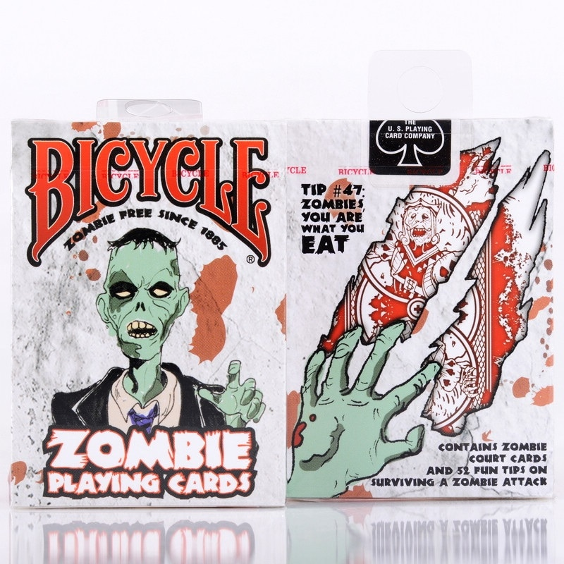 Bicycle Zombies Playing Cards Deck USPCC Collectible Poker Magic Cards Games Magic Tricks Props for Magician bicycle skull playing cards new poker cards for magician collection card game