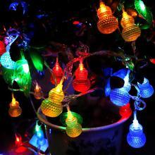Nouveau style 2m 10Led Led lumières chaîne boule batterie boîte chaîne lumières décoration lumières