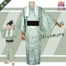 Nara Shikamaru cos NARUTO anime homme femme cosplay haute qualité Kimono mode costume ensemble haut + manteau + taille joint + serviette