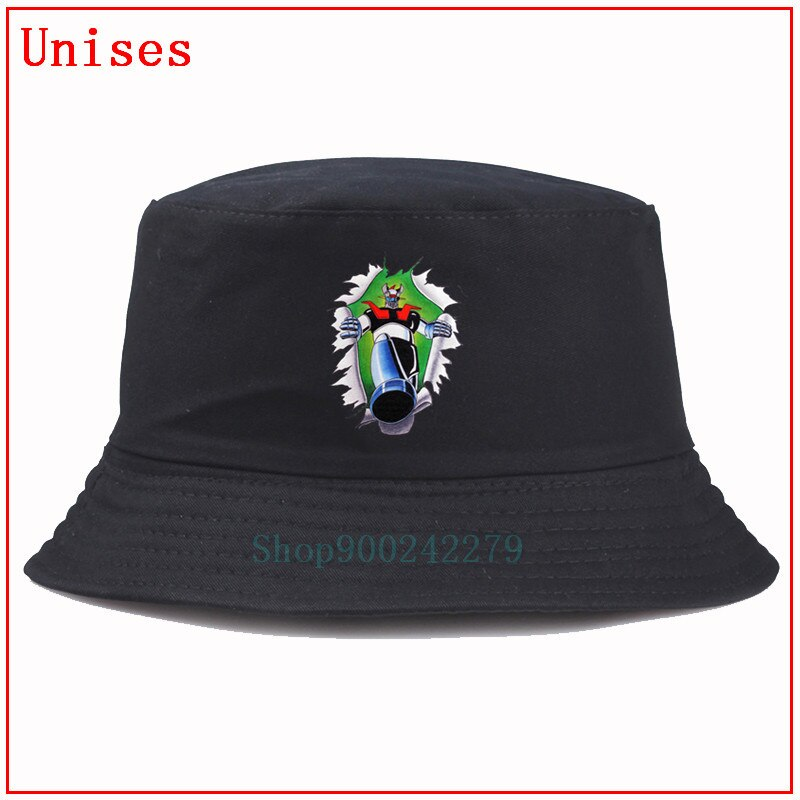 Mazinger Z шляпа в рыбацком стиле хип-хоп Панама шапка для рыбалки женская шляпа от солнца мужская шляпа для мальчика дизайнерская Панама шляпа ...