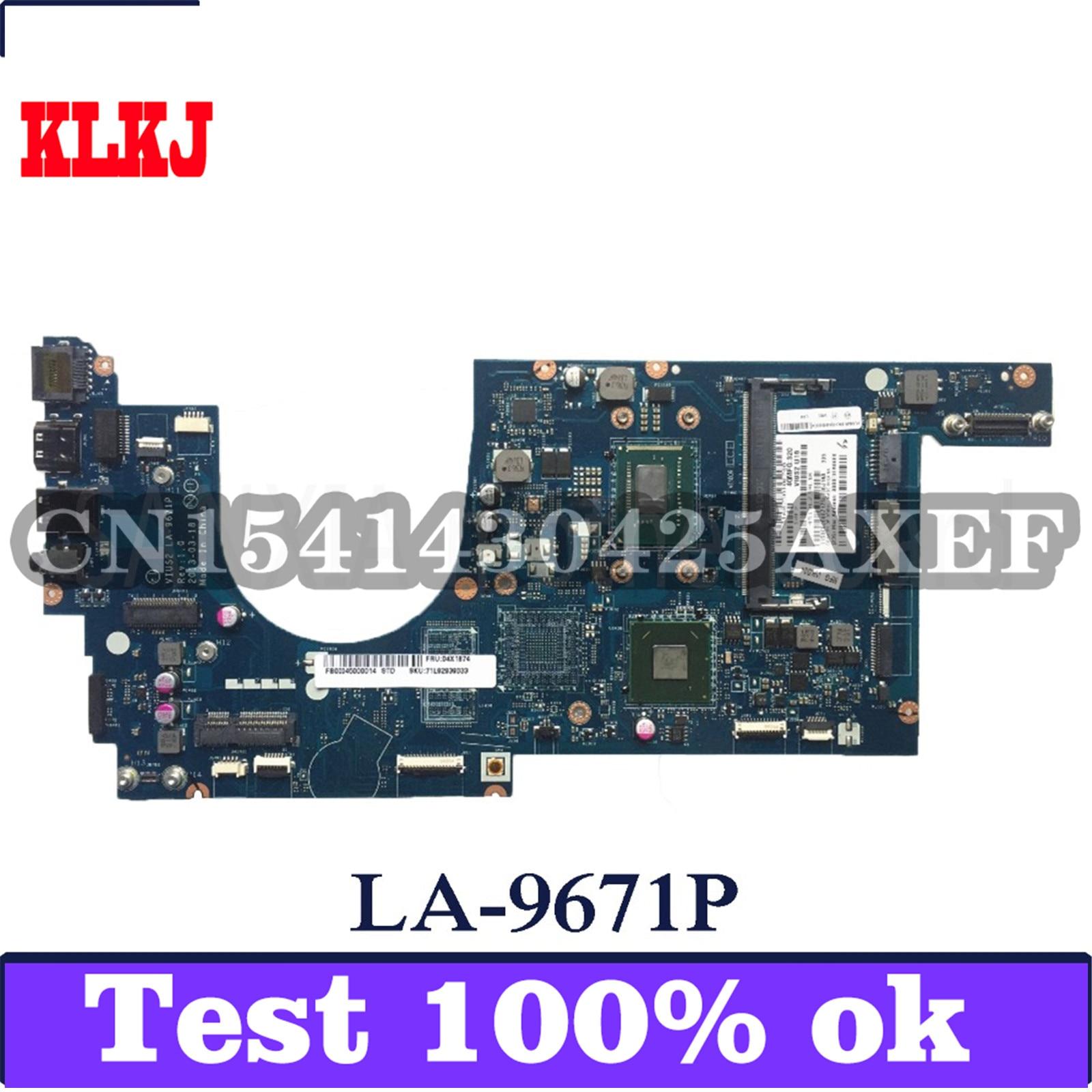 KLKJ LA-9671P اللوحة الأم لأجهزة الكمبيوتر المحمول لينوفو ثينك باد S5-S531 اختبار اللوحة الرئيسية الأصلية I5-CPU