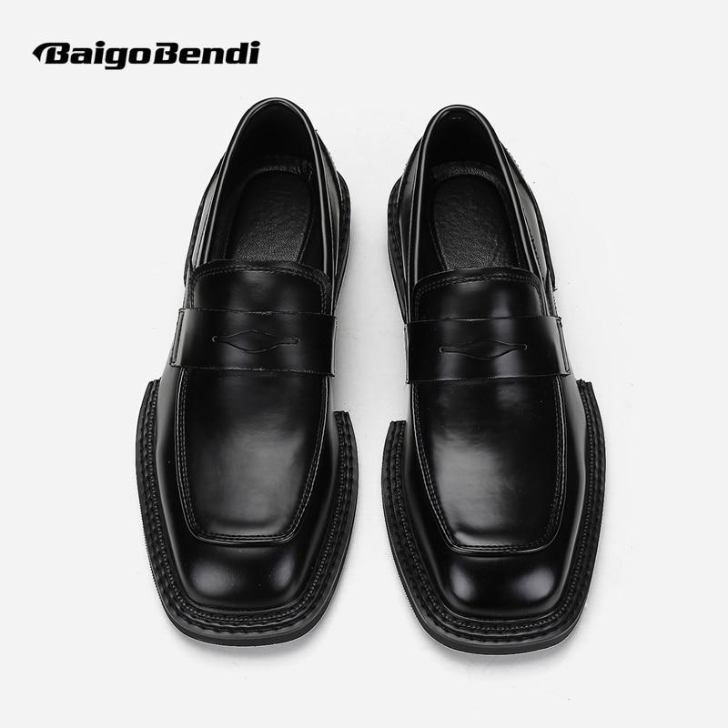 جديد وصول ساحة تو الانزلاق على أحذية من الجلد رجل الموضة الخاصة العصرية أوكسفورد الشباب أحذية باردة