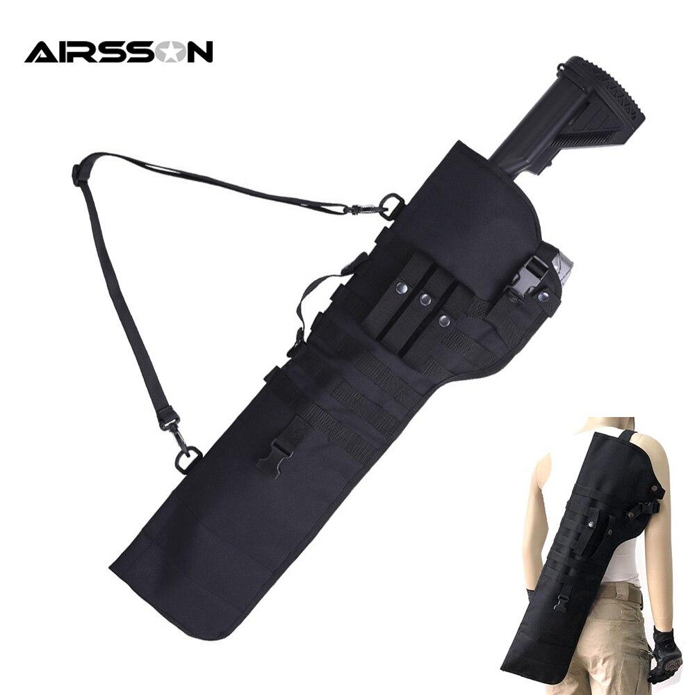 Bolsa de Arma Tático Dupla Rifle Shotgun Bolsa Militar Bainha Coldre Airsoft Case Arma Ombro Caça Acessórios 72cm