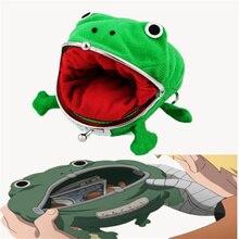 Accesorios de Cosplay Kakashi, monedero de rana de dibujos animados, Cartera de franela de Anime, monedero de Metal, monedero pequeño, accesorios para regalos
