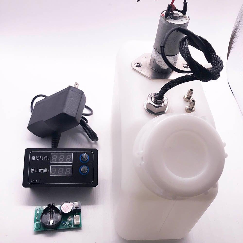 الحبر UV خزان مع السائل الاستشعار السيارات على/قبالة اثارة المحرك 12V طابعة UV الأبيض الأحبار الفرعية خزان DTG السائبة خزان إنذار الطنان ضوء