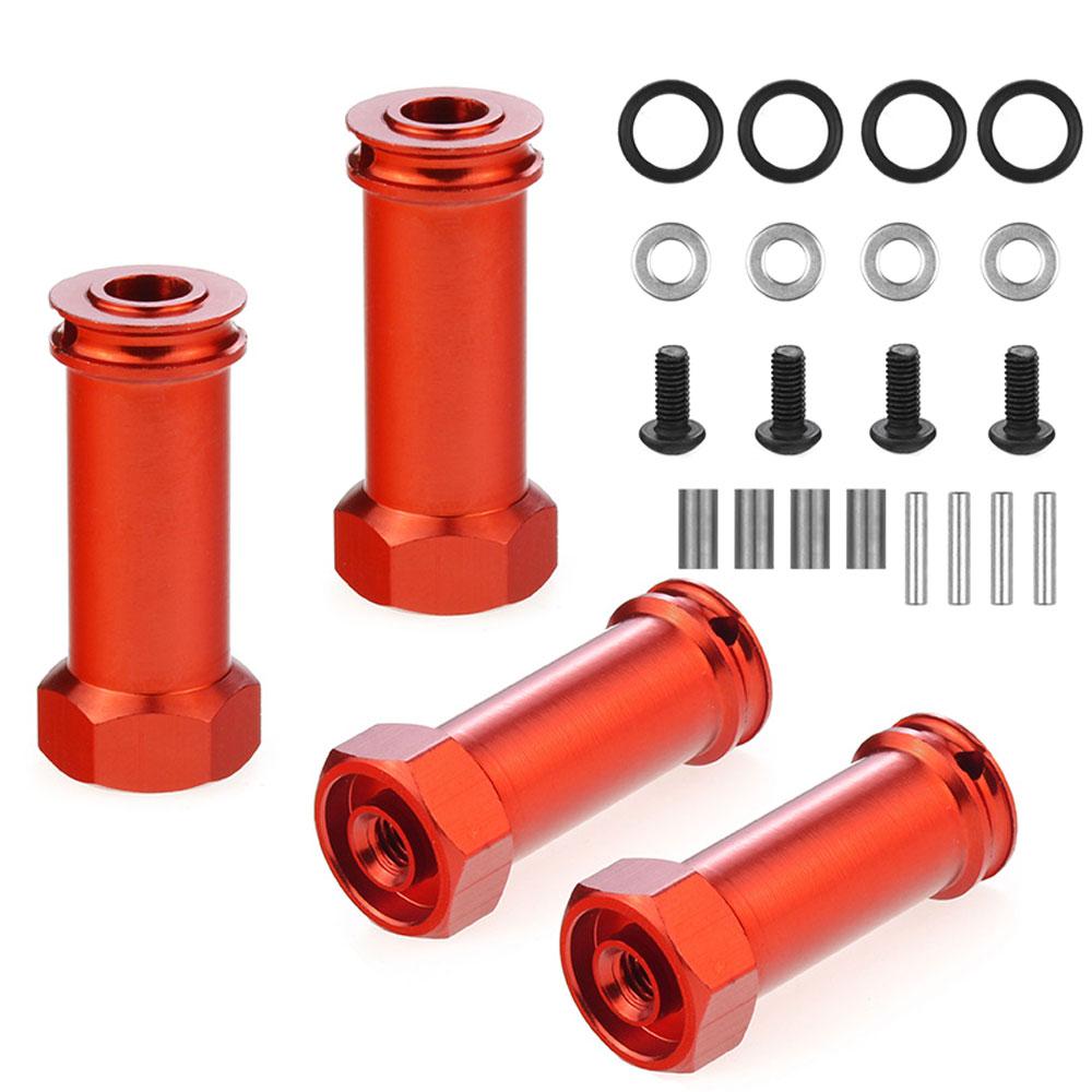 Adaptadores de cubo hexagonal de rueda de aluminio de 12mm adaptador largo de 30mm extensión combinador acoplador RC piezas de coche para 1/12 Wltoys 12428 12423
