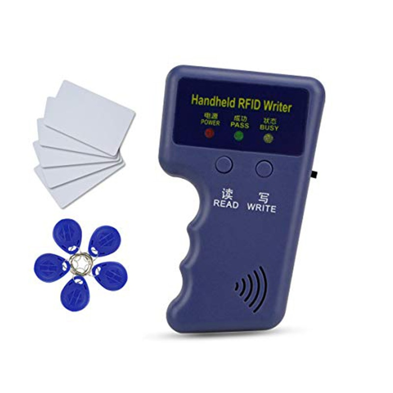 Копировщик электронных ключей удобный ручной 125 кГц EM4100 записи копиры программист читатель + EM4305 T5577 перезаписываемый ID брелок метка визитн...