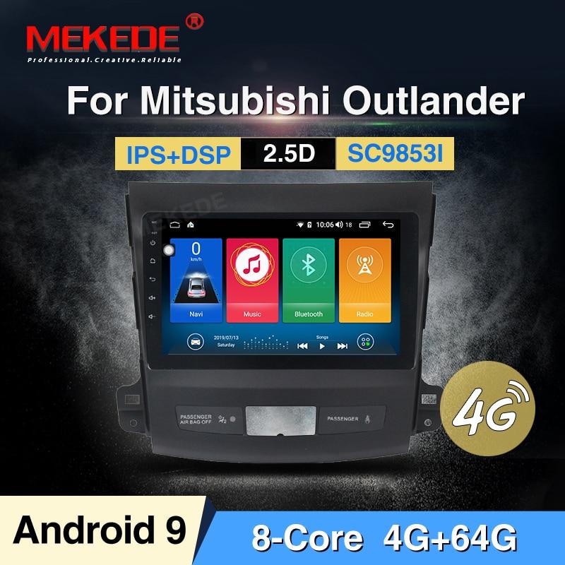 MEKEDE Android 9 4G + 64G 2.5D pantalla coche dvd gps reproductor multimedia para Mitsubishi Outlander xl 2 dvd, navegación, audio player