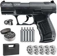 pistol gun beretta 90tvogun bullet converter five 2 co2 bullets andpack of 500ct lead pellets classic home deco metal wall sign