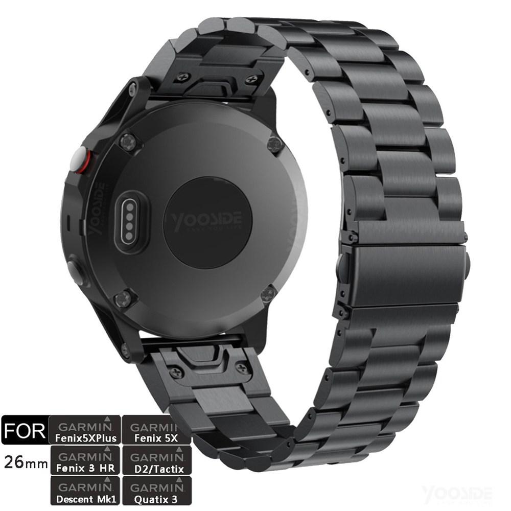 Fenix 5X/Fenix 6X 26 мм металлический ремешок для часов из нержавеющей стали для Garmin Fenix 5X Plus/Fenix 3/3 HR/D2 Delta PX
