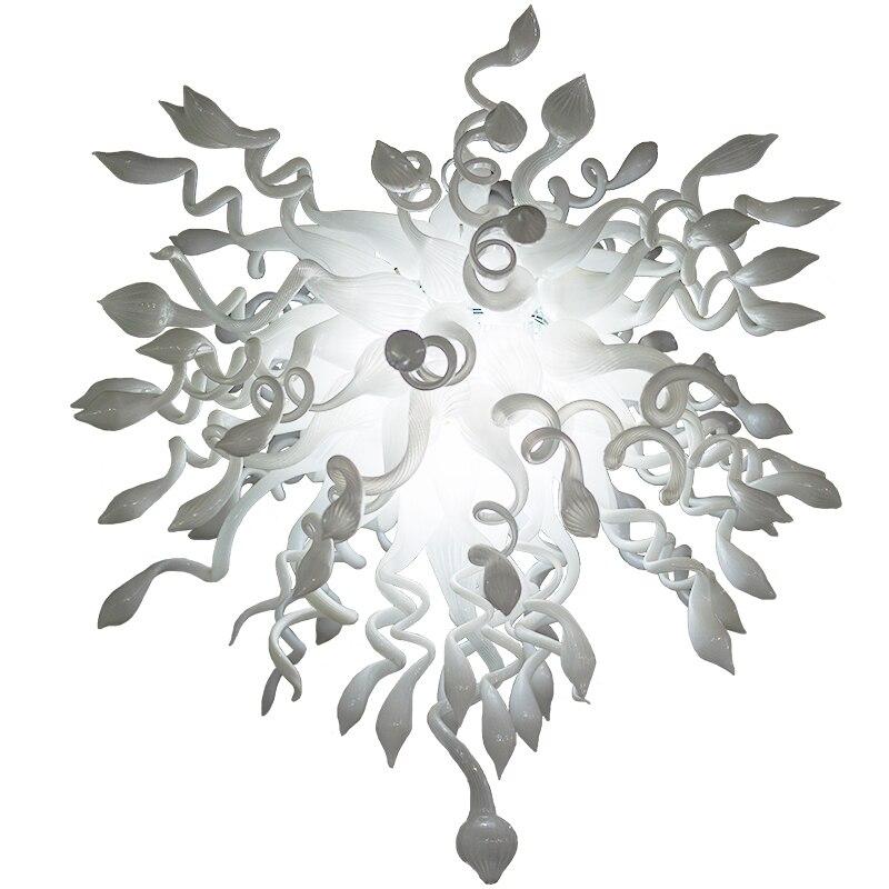 تجهيزات مصابيح ليد بيضاء حديثة 110 فولت 240 فولت زجاج مورانو مصباح نجف إضاءة داخلية للمنزل