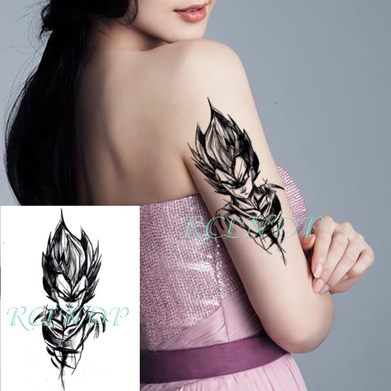 Waterproof Temporary Tattoo Sticker Hand Drawn Dragon Ball Sun Wukong Fake Tatoo Flash Tatto big size tattoos for Women Men