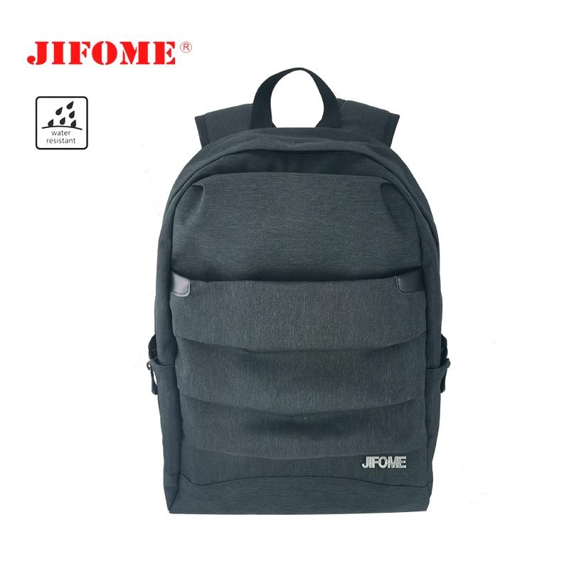 """Jifome 15.6 """"na moda fino à prova dwaterproof água homem mulher luz viagem mochila saco escritório faculdade anti-ladrão portátil trabalho mochila"""