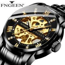 FNGEEN Mechanical Watch Men Business Reloj Hombre Sport Luxury Automatic Tourbillon Watches Male clock 2020 Relogio Masculino