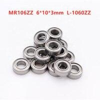 50pcs/100pcs/500pcs miniature bearing MR106ZZ 6*10*3mm L-1060ZZ 676ZZ deep groove ball bearings 6mmx10mmx3mm