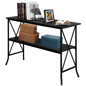 Console Table Sofa Side End Table Unique C-Shape Desk Computer Laptop Holder Portable Workstation Cofee for Family