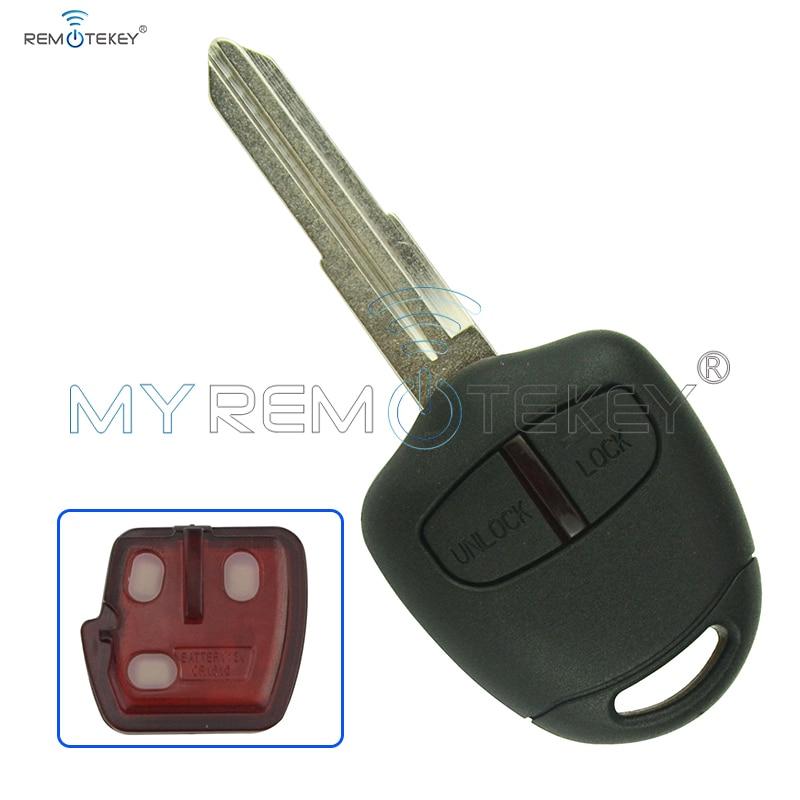 Дистанционный ключ для 2004-2010 Mitsubishi Grandis 2 кнопки MIT11R ключ лезвие 433 МГц ID46 PCF7936 чип remtekey