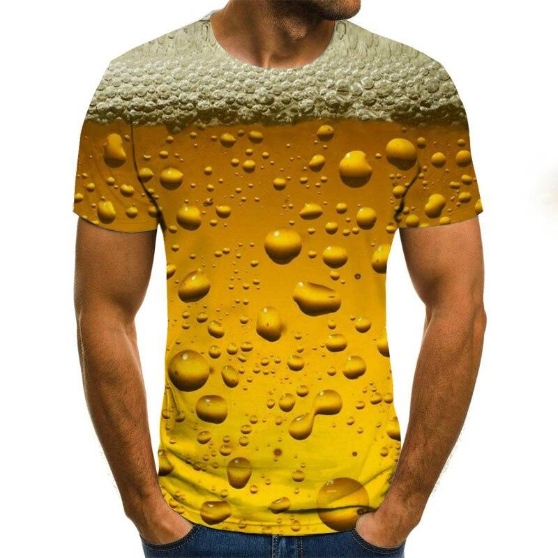 2021 popular impresión 3D carta de cerveza espiral tiempo túnel unisex camiseta...