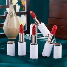 Velvet Matte Lipstick Guochao Style Carved Ceramic Lipstick Waterproof Long Lasting Red Lipstick Lip