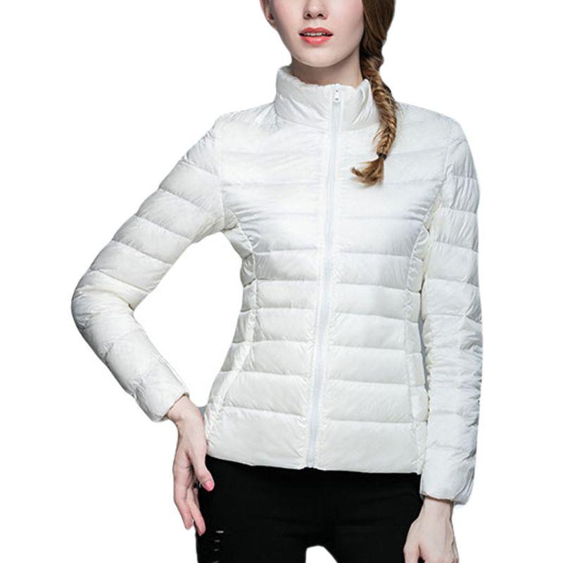 Chaqueta ligera de plumas de pato estilo Uniqlo para mujer abrigo de abrigo cálido de invierno de alta calidad y nuevo