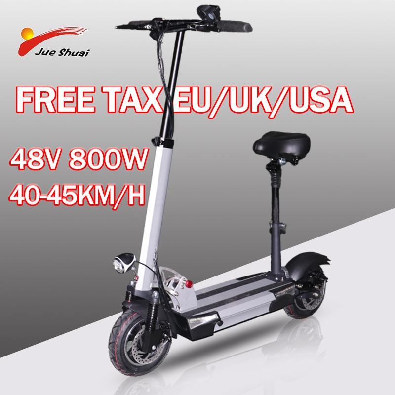 Patinete eléctrico plegable para adultos, Scooter de 48V, 800W, larga distancia, 100km,...