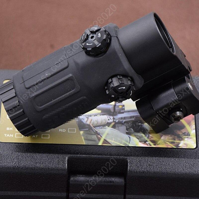 Tactical red dot sihgt rifle scope g33 3x lado flip weaver picatinny rial montagem lupa bk m7467