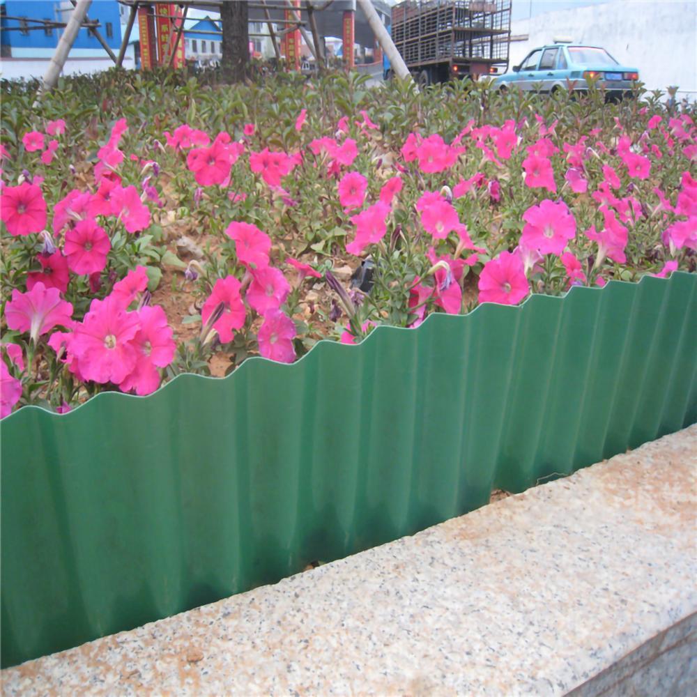 Купить с кэшбэком 20x900cm Plastic Garden Lawn Trimmed Fence Corrugated Rolling Path Decorative Ripple Shape Flexible Lawn Courtyard DIY Path