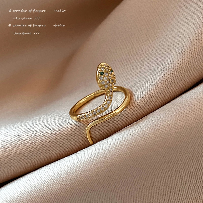 Classic Fashion Snake Gold Rings For Woman 2021 Student Girl's Sexy Finger Accessories Korean Fashion Jewelry For Unusual Gift