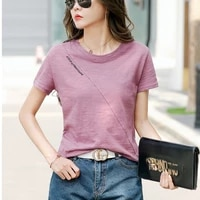 ljsxls 2021 summer t shirt women cotton short sleeve tshirts plus size casual letter tops white o neck loose tee shirt femme