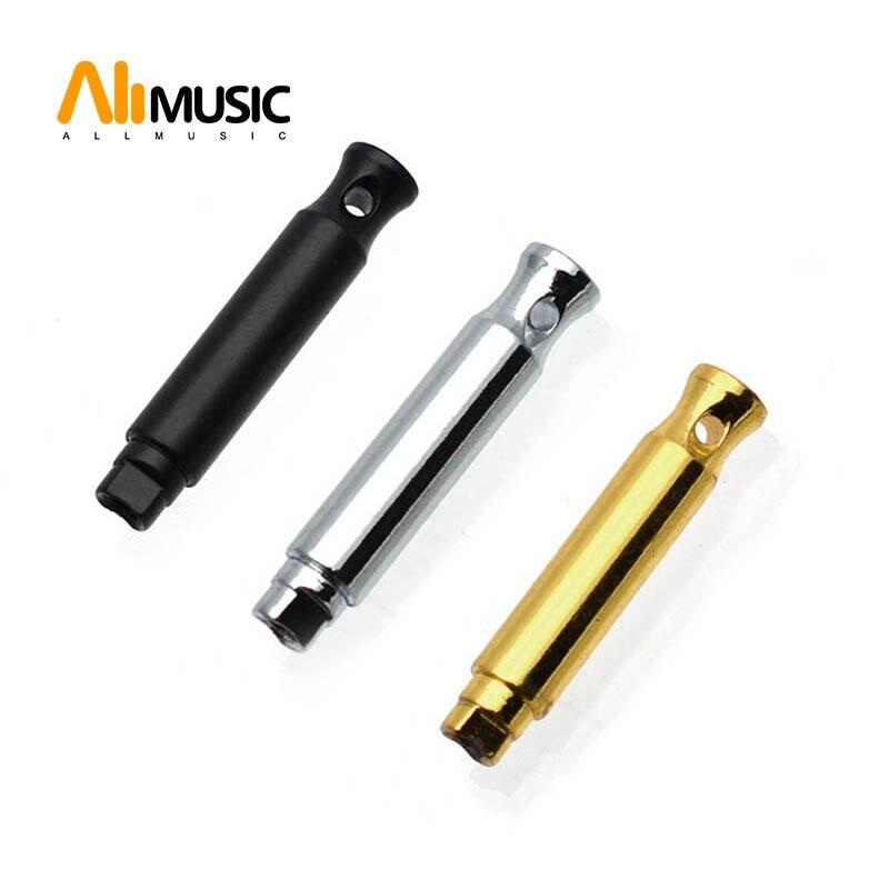 12PCS Guitar Machine Head Steel Shaft String Reel Guitar Tuner Leg End Hole Black/Gold/Chrome