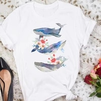 women graphic flower floral fashion casual cute 90s style vintage lady tees print tops clothing female t shirt womens t shirt