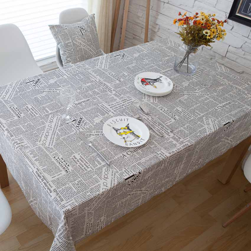 Mantel para mesa con letras inglesas, mantel para fotografía, mantel antideslizante, manteles para mesa de noche, decoración