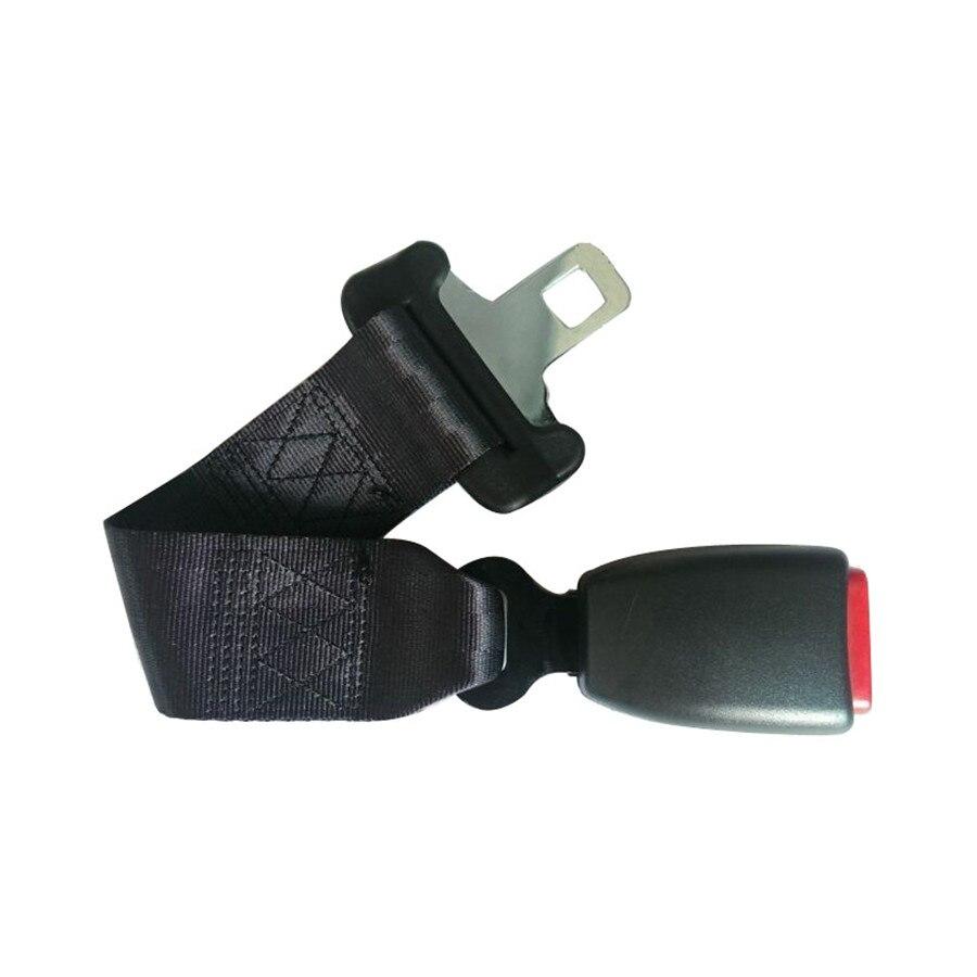Extensor de assento de carro com 35cm, cinto de segurança preto ajustável, fivela de 25mm