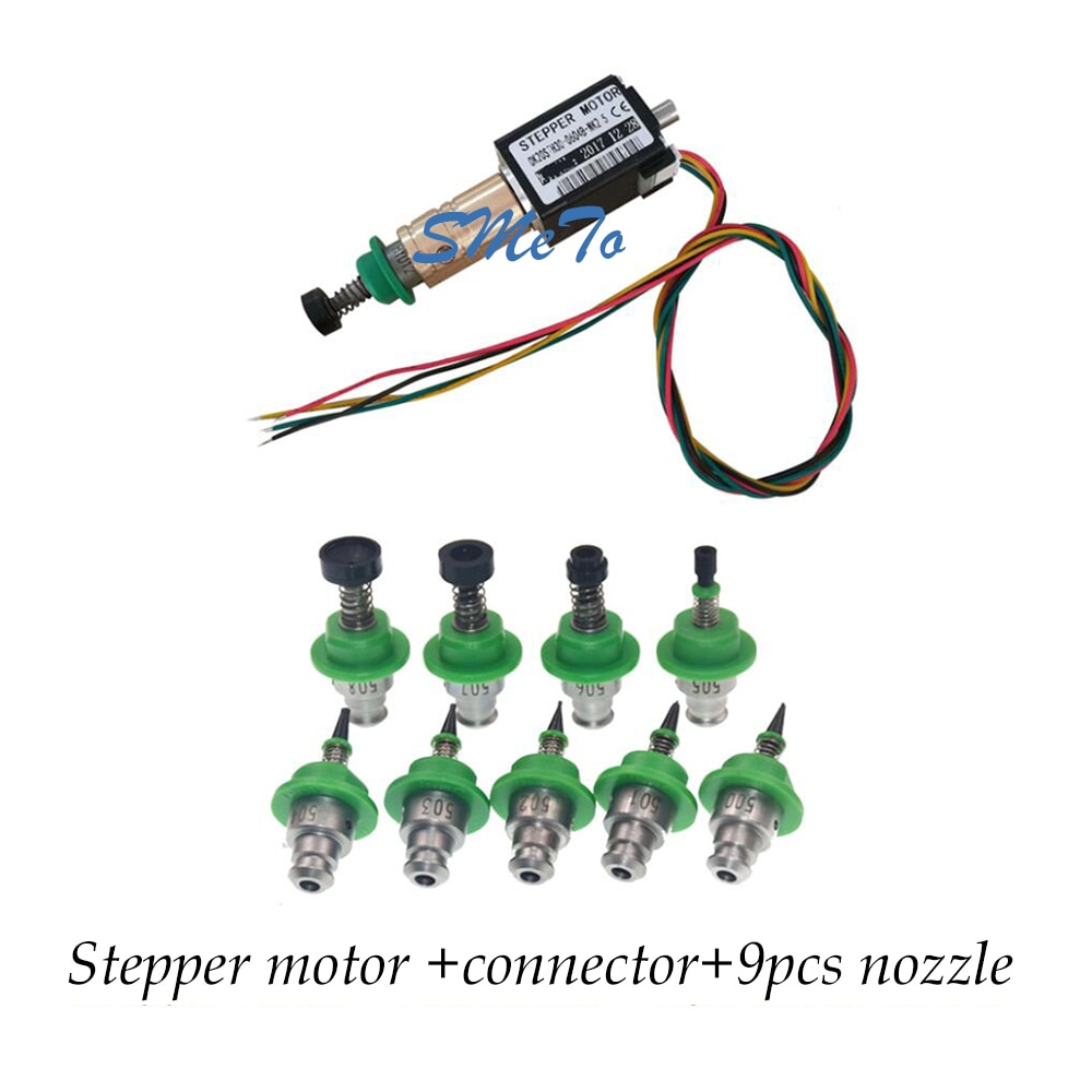 JUKI Stepper Motor SMT DIY Mountor Connector For Juki 500 501 502 506 508 Nozzle SMT Pick And Place Machine smt 500 501 502 503 504 505 506 507 508 nozzle core for juki ke2000 2010 2020 2030 pick and place machine