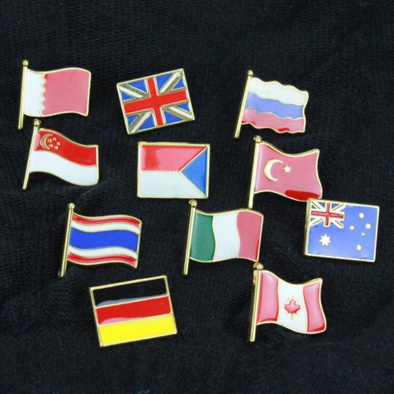 1 шт. Модный Цветной креативный флаг США Австралия Канада Корея металлическая брошь значок булавка Кепка джинсовая куртка украшение одежды Ювелирные изделия