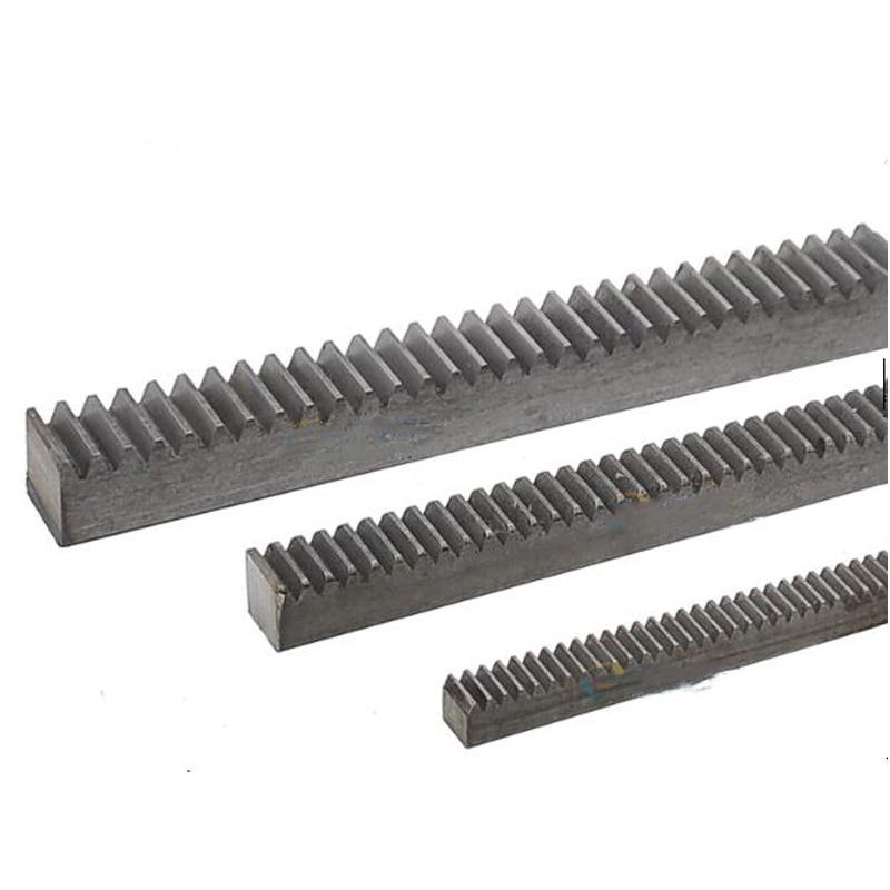 2pcs/lot 1Mod 12*12*500mm 1 Modulus High Precision Gear Rack steel  + 2pcs 1M 17teeth pinion cnc gear rack